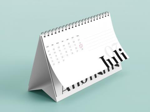 Staande kalender US